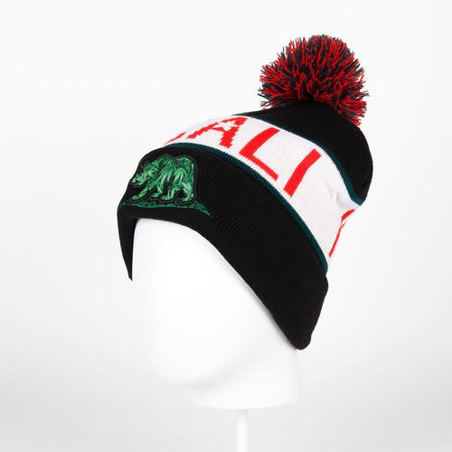 Шапка CAYLER & SONS Cali Kush Pom Pom Beanie (Black/White/Red) шапка truespin weedy pom beanie red black
