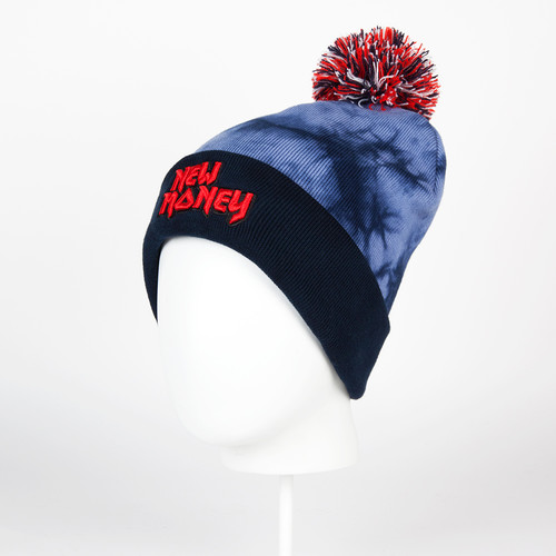 Шапка CAYLER & SONS New Money Pom Pom Beanie (Acid Washed Navy/Red/White)