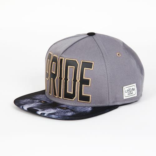 Бейсболка CAYLER & SONS Pride Cap (Grey/Grey Wolf/Gold, O/S)