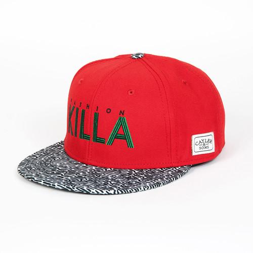 Бейсболка CAYLER & SONS Killa Cap (Red/Black-White/Green, O/S) linhaoshengyue grey black red white blue green brown purple woven real mink fur hats