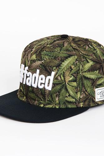 Бейсболка CAYLER & SONS #faded Cap (Green Buds/Black/White, O/S)