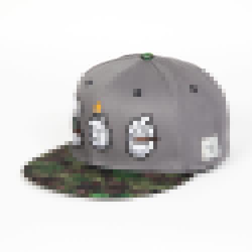 Бейсболка CAYLER & SONS Enjoy Cap (Grey/Green Buds/Mc, O/S) цена