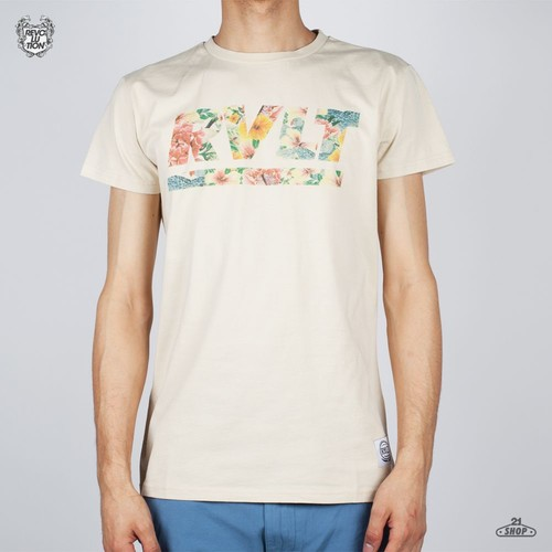 Футболка REVOLUTION Mono Tee Floral (Off-White, M)