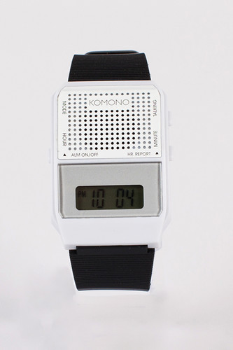 Часы KOMONO Parrot (White-Black)