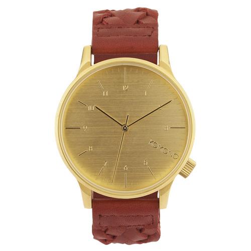 Часы KOMONO Winston Woven (Burgundy)