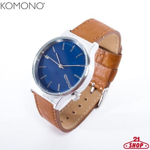 цена Часы KOMONO Wizard (Silver-Blue-Cogna)