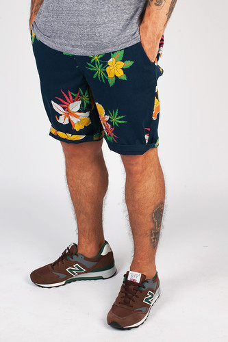 Шорты OBEY Working Man Ii Short (Hawaiian-Navy, 32)