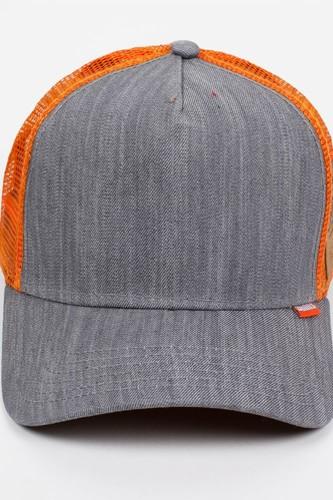 Бейсболка DJINNS HFT Denim (Grey/Orange, O/S)