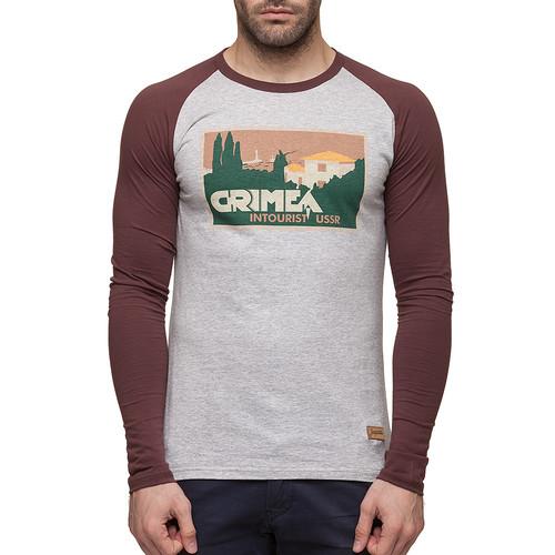 Лонгслив ЗАПОРОЖЕЦ Крым (Grey/Brown, XL) свитер запорожец deer x helga grey blue xl