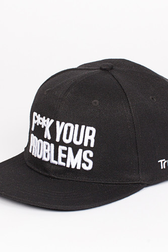 Бейсболка TRUESPIN Fuck Your Problems (Black, O/S)