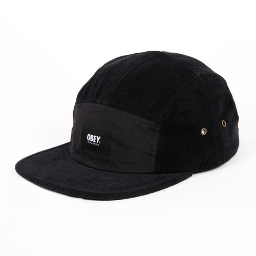 Бейсболка OBEY Milivia 5 Panel (Black, O/S) бейсболка obey ulster 5 panel light brown o s