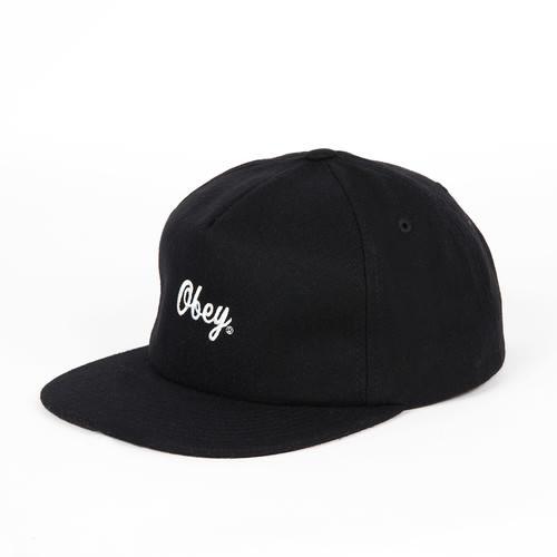 Бейсболка OBEY Script Hat (Black, O/S) бейсболка классическая diamond script sports hat khaki