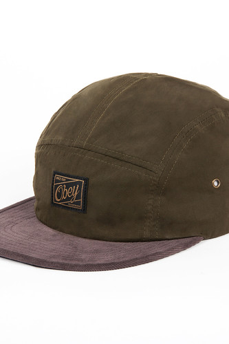 Бейсболка OBEY Washington 5 Panel (Olive, O/S)