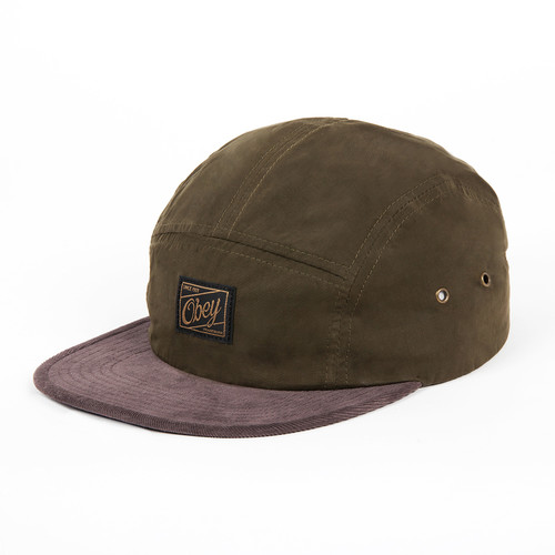 Бейсболка OBEY Washington 5 Panel (Olive, O/S) бейсболка obey trail 5 panel burgundy o s