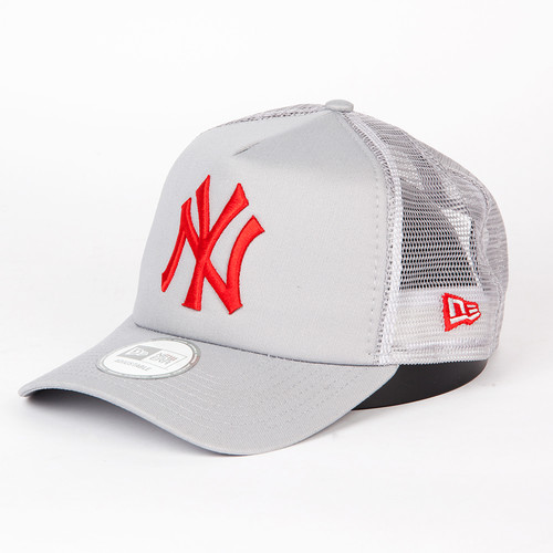 Бейсболка NEW ERA Gray Base Trucker Neyyan (Grey/Scarlet, O/S) бейсболка new era clean trucker ny black black white o s