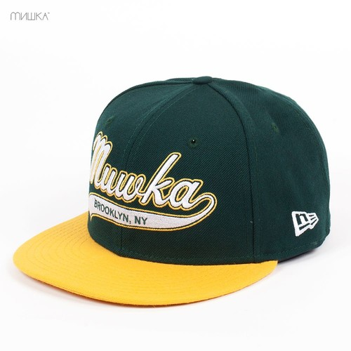 Бейсболка MISHKA Cyrillic Script New Era (Green, 7) бейсболка mishka kill with power ne 5950 black 7 3 8