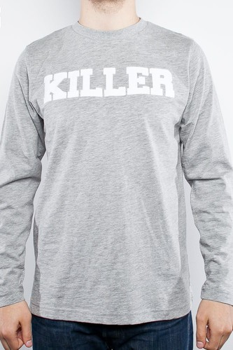 Лонгслив CROOKS & CASTLES Killer Crew Pullover (Heather-Grey, S) лонгслив crooks