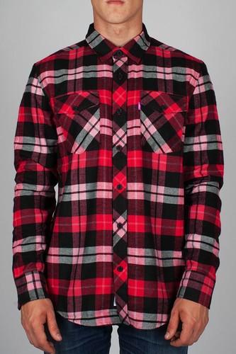 Рубашка MISHKA Cabin Fever (Warm-Red, XS) цена и фото