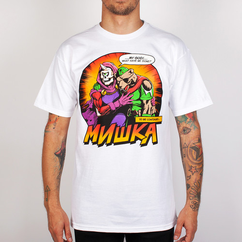 Футболка MISHKA Final Moments Tee (White, L) футболка mishka davy jones locker white l