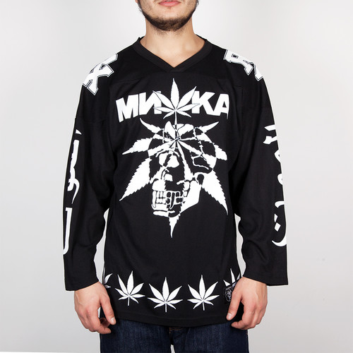 Лонгслив MISHKA Cyco Sativa Hockey Jersey (Black, XL) футболка mishka cyco thrasman tee black l