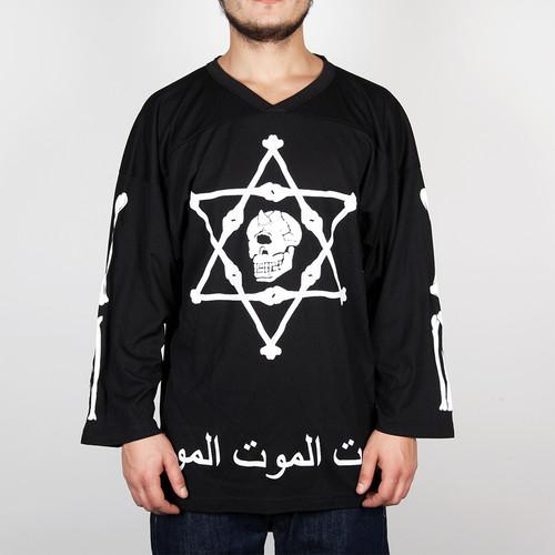 Лонгслив MISHKA Cyco Solomon Hockey Jersey (Black, L) футболка mishka cyco thrasman tee black l