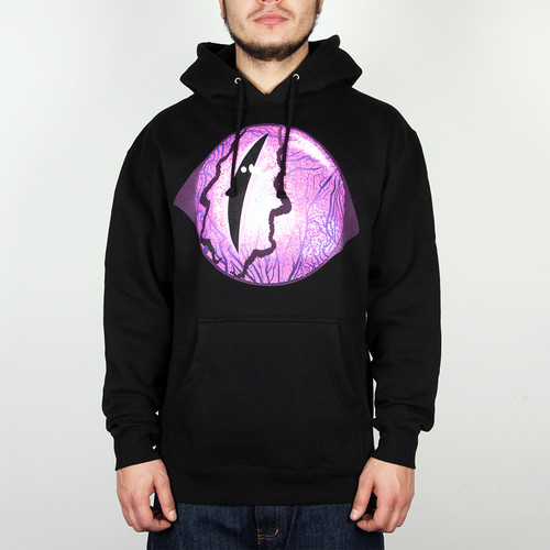 Толстовка MISHKA Reptilian Keep Watch Pullover Hoodie (Black, L) бейсболка mishka reptilian keep watch new era 5950 black 7 5 8