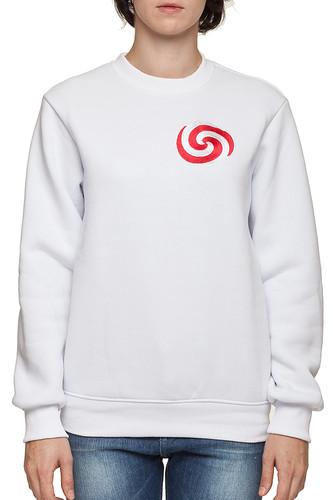 Толстовка WHITE CLOUD Карамель (Белый-Красный-1048, XL)