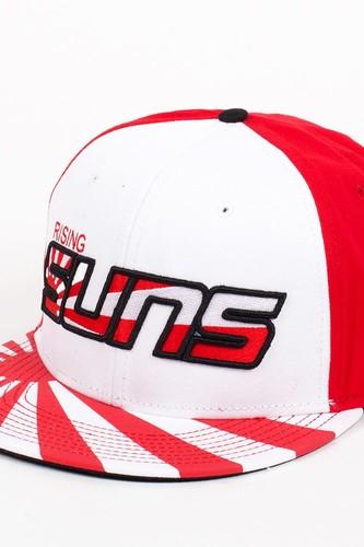Бейсболка DJINNS 6P Snapback Suns (White-Red, O/S) бейсболка huf baron quilted snapback wine