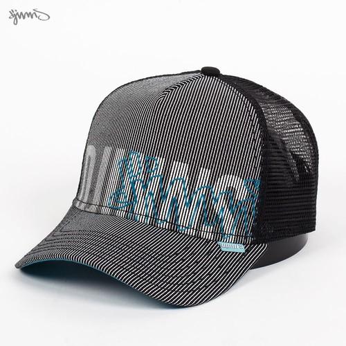 Бейсболка DJINNS Hft Holo Stripe (Black-Aqua, O/S)