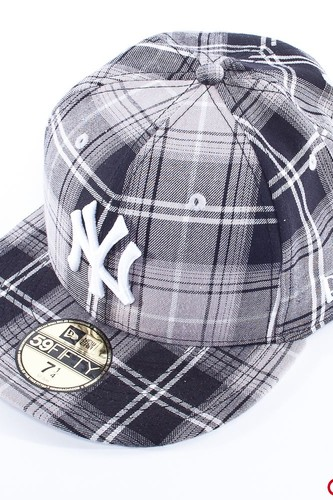 Бейсболка NEW ERA Tartanic New York (Gray, 7 1/8) цена