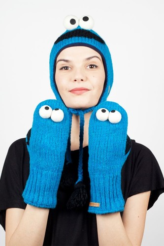 Варежки KNITWITS Cookie Monster (Blue)