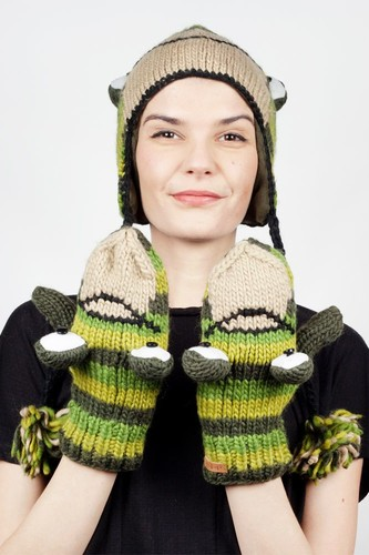 Варежки KNITWITS Ferny The Frog (Green)
