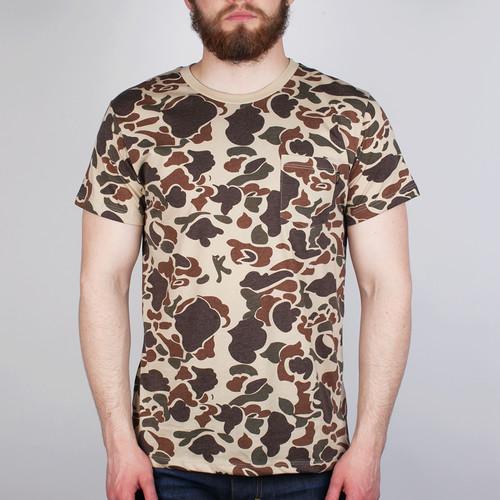 Футболка OBEY Camo Pocket Tee (Bubble-Camo, S)