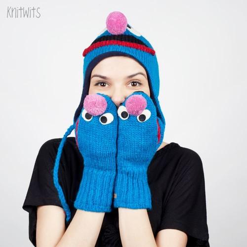 Варежки KNITWITS Grover (Blue)