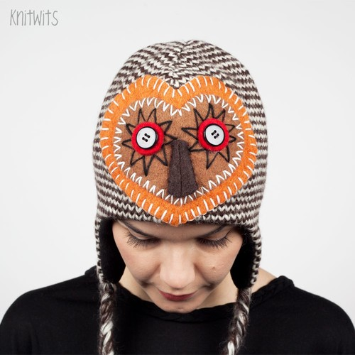Шапка KNITWITS Crafty Owl (Brown) шапка knitwits unicorn white