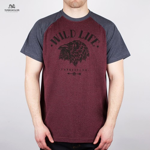 Футболка TURBOKOLOR Wild Life FW13 (Redwine-Navy-Heather, S) футболка turbokolor pocket slim fit ss13 heather red m