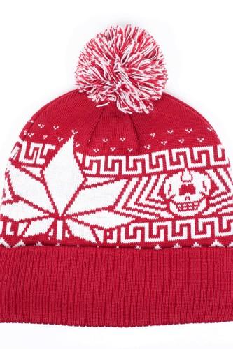 Шапка МИШКА Sweat Leaf Pom Beanie (Red) шапка nixon smoky beanie red paper