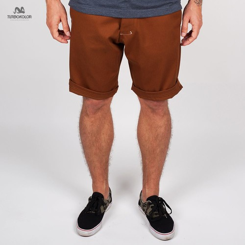 Шорты TURBOKOLOR Chino Shorts SS13 (Brown, 28) футболка turbokolor pocket slim fit ss13 heather red m