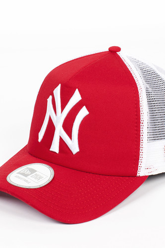 Бейсболка NEW ERA Clean Trucker NY Scarlet (Scarlet-White, O/S)