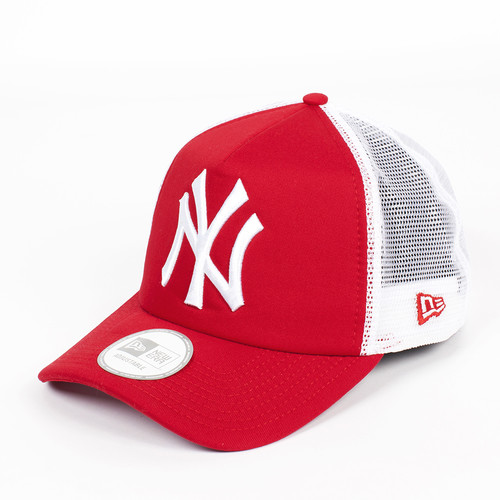 Бейсболка NEW ERA Clean Trucker NY Scarlet (Scarlet-White, O/S) бейсболка new era 940 league basic ny scarlet white o s