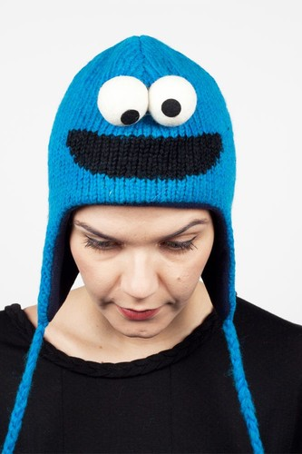 Шапка KNITWITS Cookie Monster (Blue) шапка knitwits elmo red