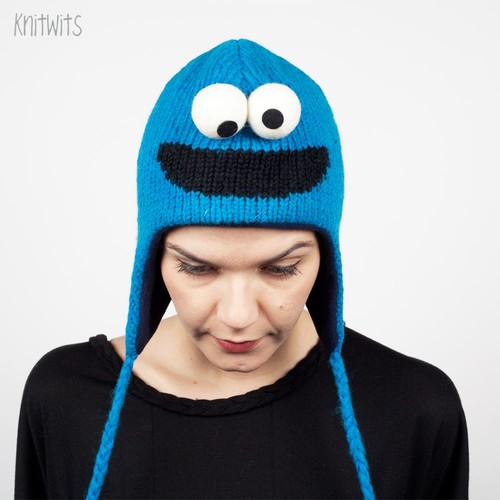 Шапка KNITWITS Cookie Monster (Blue) шапка knitwits unicorn white