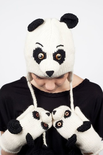 Шапка KNITWITS Panda (White-Black) шапка knitwits elmo red