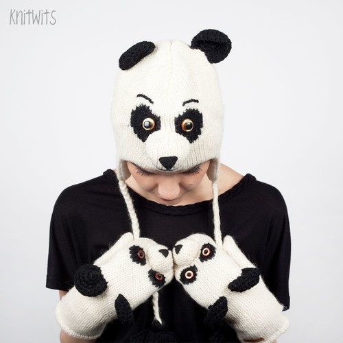 Шапка KNITWITS Panda (White-Black) шапка knitwits unicorn white