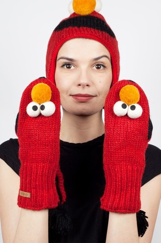Варежки KNITWITS Elmo (Red) belld mkx154 1698 k09 p65
