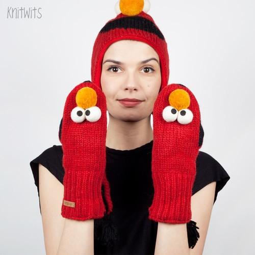 купить Варежки KNITWITS Elmo (Red) по цене 800 рублей