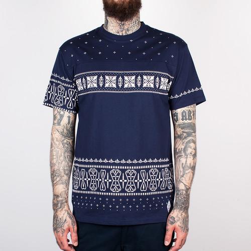 Футболка CROOKS & CASTLES - Sovereign Crew T-Shirt (True Navy, 3XL) raglan sleeves crew neck t shirt
