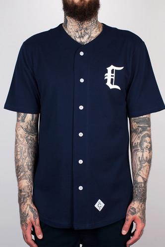 Рубашка CROOKS & CASTLES - Stadium C Baseball Jersey (True Navy, XL)