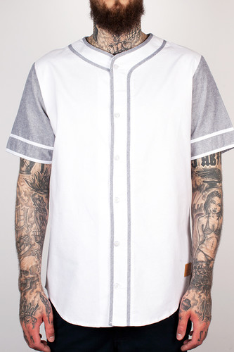 Рубашка CROOKS & CASTLES - Home Team S/S Baseball Top (White/Black, XL)