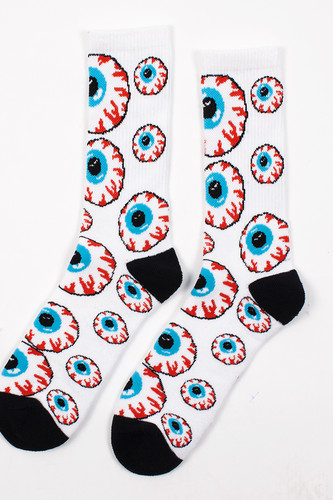Носки MISHKA Keep Watch Pattern Socks (White, O/S) fashional diy pattern silvery white sequins sofa pillow case